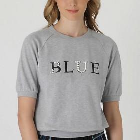 BLUE LABEL CRESTBRIDGE ビジューロゴスウェット