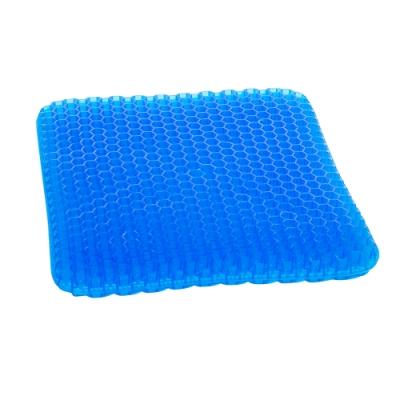 【OMyCar】最新版3D涼爽雙層蜂巢凝膠坐墊(送-專用止滑布套收納袋)透氣釋壓