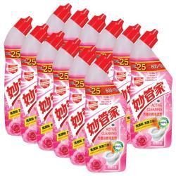 妙管家 馬桶芳香清潔劑750g x12瓶-玫瑰花香