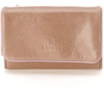 LANVIN en Bleu(BAG) LANVIN en Bleu ランバンオンブルー アメリ 外ファスナー三つ折り財布 財布,ライトベージュ