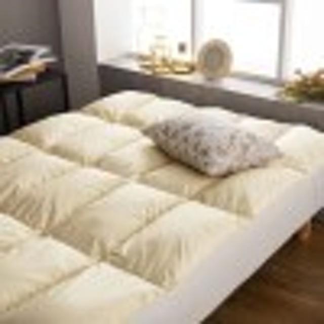 カナダ産ホワイトダックダウンを使用したベッドパッド【抗菌・消臭加工羽毛使用】