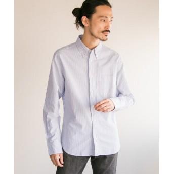 アーバンリサーチ MANUAL ALPHABET スーピマOX ボタンダウンシャツ メンズ NVY/WHT 3 【URBAN RESEARCH】