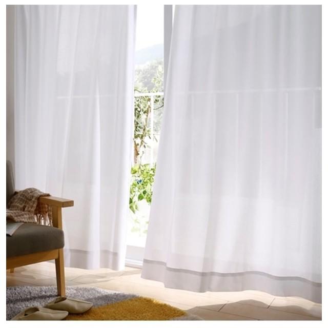 【送料無料!】お部屋に合わせやすい!無地調遮熱夕方まで見えにくいレースカーテン レースカーテン・ボイルカーテン