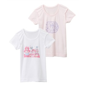 【プリキュアオールスターズ】3分袖スリーマ2枚組(女の子 子供服。ジュニア服) キッズ下着