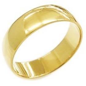 K18 鍛造(たんぞう) 平甲丸(ひらこうまる)リング巾6mm6g ゴールドリング オーダーリング 結婚 オリジナル(19号)