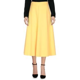 《期間限定セール開催中!》JUCCA レディース 7分丈スカート あんず色 40 ポリエステル 65% / レーヨン 32% / ポリウレタン 3%