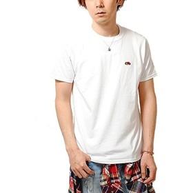 フルーツオブザルーム (FRUIT OF THE LOOM) ワッペン ロゴ Tシャツ (L, ホワイト)