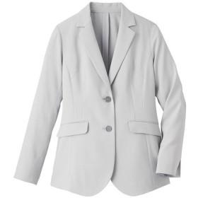 30%OFF【レディース大きいサイズ】 テーラードジャケット(COOL MAX)(吸汗速乾・UVカット) - セシール ■カラー:グレー ■サイズ:5L,6L,L,LL,3L,4L
