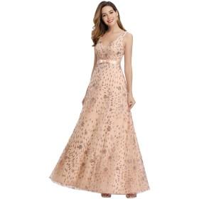 Ever-Pretty イブニングドレス ロングドレス 演奏会 パーティードレス ロング お呼ばれドレス ウェディングドレス ワンピース シフォン 結婚式 ドレス