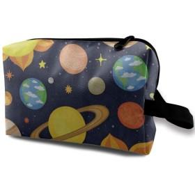 漫画惑星太陽系 ポーチ 旅行 化粧ポーチ 防水 収納ポーチ コスメポーチ 軽量 トラベルポーチ25cm×16cm×12cm