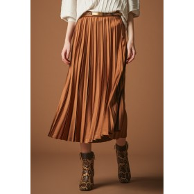 EPOCA ◆◆エンボスサテンプリーツスカート その他 スカート,キャメル1