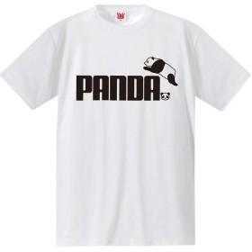おもしろ Tシャツ アニマル 【パンダ ジャンプ】【白T】【M】 PRIME