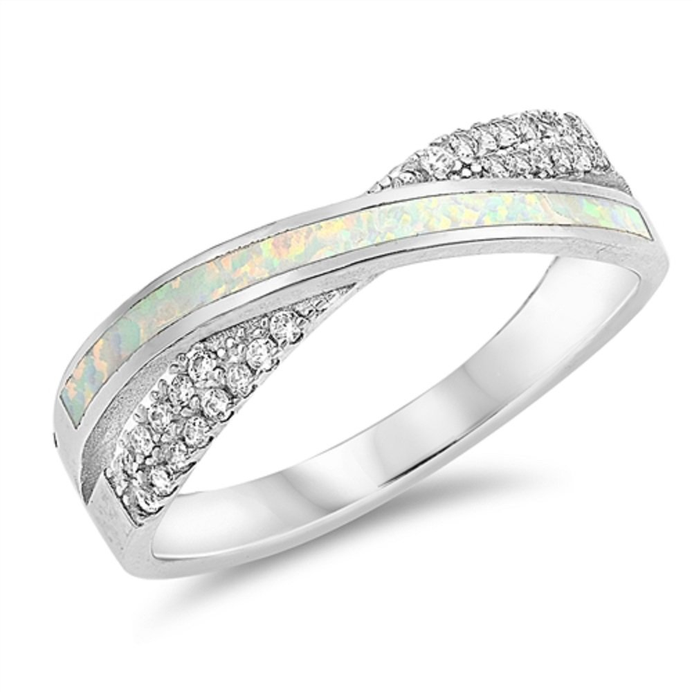 Size-5.5 KATARINA Infinity Diamond Ring in Sterling Silver 1//6 cttw, I-J, SI