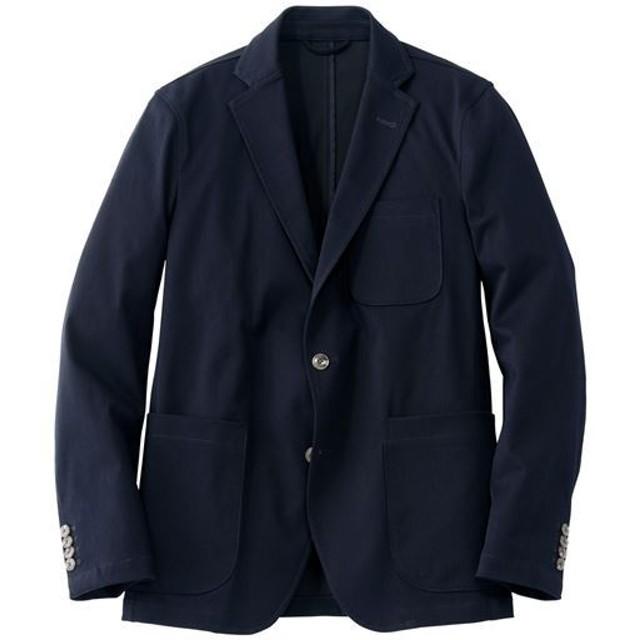 【メンズ】 全方向ストレッチ素材のテーラードジャケット(ワンダーシェイプ®) - セシール ■カラー:ダークネイビー ■サイズ:M,L,LL,3L,5L