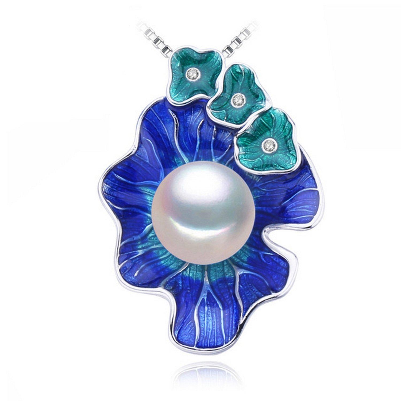 MMC Flowers Pearl Choker Silver Pendants Necklaces