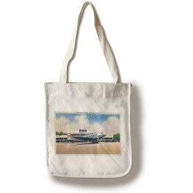 シカゴ、イリノイ州 – Transcontinental空港飛行機でMunicipal Canvas Tote Bag LANT-34255-TT