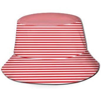 RIERQL Red Stripeバケットハット ハット 帽子 紫外線対策 サファリハット カジュアル スポーツ メンズ レディース プレゼント UVカット つば広 おしゃれ 可愛い 日よけ 夏季 小顔効果 新型Black