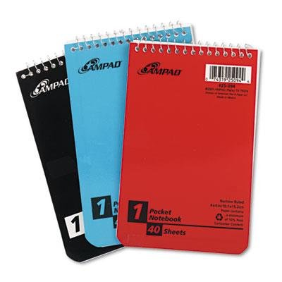 Ampad Wirebound Pocket Memo Book 50 Sheets//Pad Narrow Rule White 5 x 3