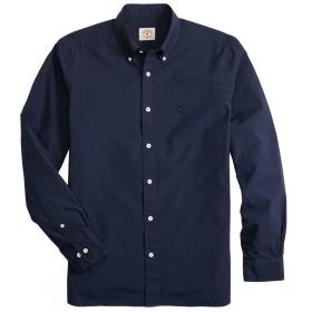 Brooks Brothers(ブルックス ブラザーズ) Red Fleece GF コットンブロード ガーメントダイ 長袖 カジュアルシャツ Regent Fit 34931930 ネイビー S