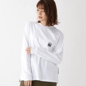 BASE CONTROL LADYS(ベースステーション:レディース)/ピーナッツ PEANUTS 別注 スヌーピー バックプリント 長袖 Tシャツ