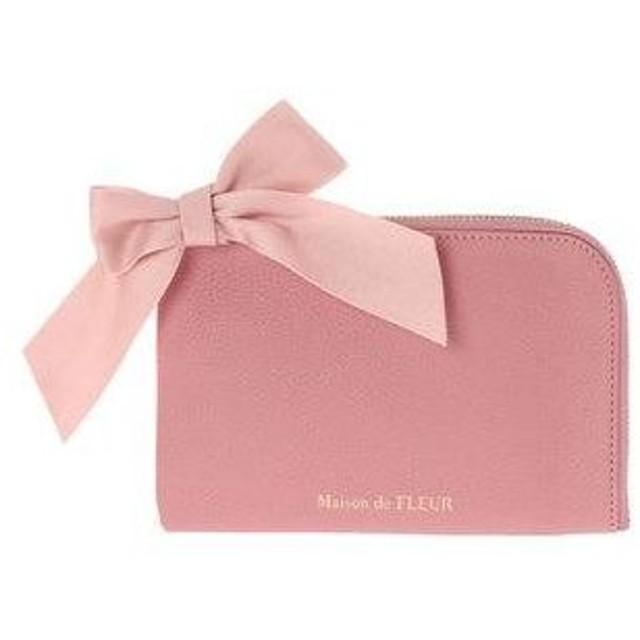 メゾンドフルール Maison de FLEUR L字ポーチ (Pink)