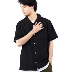 (エイト) 8(eight)KANGOL別注 カンゴール オープンカラーシャツ ブラックL
