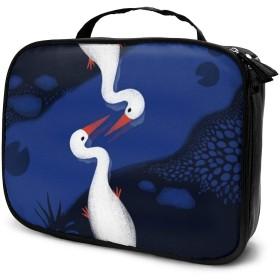 Birds No.1女性用化粧品バッグ愛らしい広々とした化粧バッグ旅行用トイレタリーバッグアクセサリーオーガナイザー
