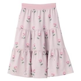(LODISPOTTO/ロディスポット)Propose Roseティアードスカート/mille fille closet/レディース ピンク