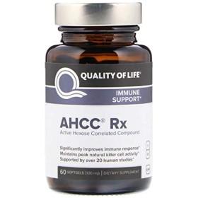 Quality of Life Labs AHCC RX 300 mg 60 ソフトジェル 【アメリカ直送】