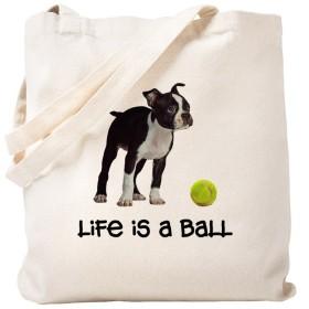 CafePress–Boston Terrier Life–ナチュラルキャンバストートバッグ、布ショッピングバッグ S ベージュ 0328187131DECC2