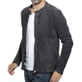 ジョルジオブラット GIORGIO BRATO ライダースジャケット MEVL レザージャケット ブルゾン グレー メンズ gu20f8871mevl-antracite