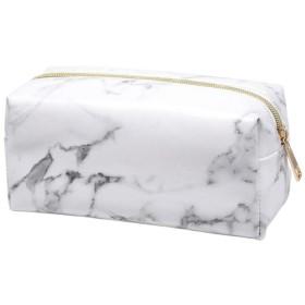 Lurrose 女性のための大理石の化粧バッグpu化粧ポーチ鉛筆ストレージオーガナイザー