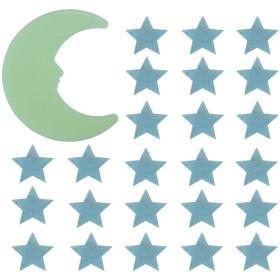 SUPVOX 暗いステッカー保育園の壁の天井の装飾で201個のスター発光ステッカームーングロー