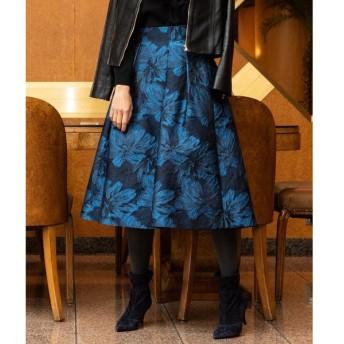 Viaggio Blu(大きいサイズ) / ビアッジョブルー(おおきいサイズ) 【大きいサイズ】フラワージャガードスカート