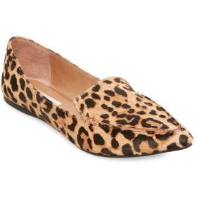 [スティーブ マデン] レディース サンダル Feather Leopard Print Calf Hair Loafers [並行輸入品]