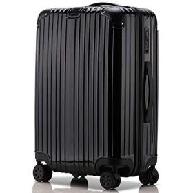 LNMLAN 超軽量 2年保証 スーツケース TSAロック搭載 旅行バック トランクケース 旅行カバン3003 (S, 黒い)