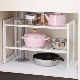 WENZHE キッチン収納りキッチンラック収納棚キッチンラックワゴンシンクの下で 調節可能な プラスチック 多機能、 3モデル (サイズ さいず : C-46  30  40cm)