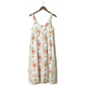 FAMILY AFFAIRS ファミリーアフェアーズ Odile Dress Love Print プリントキャミワンピース S ホワイト