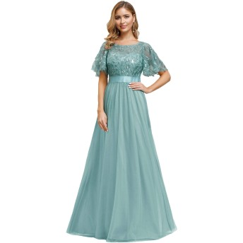 Ever-Pretty ドレス パーティードレス ワンピース 同窓会 結婚式 お呼ばれ グーリン L