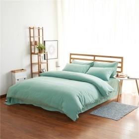 ZHIYUAN 高品質暖かい布団カバーフラットシート枕カバーセット,シングル,ペールターコイズ