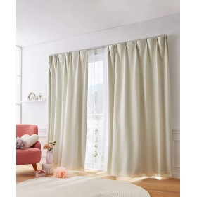 [nissen(ニッセン)] カーテン レースカーテン 4枚セット 遮光裏地付 ワッフル アイボリー 幅150×長さ178(176)cm