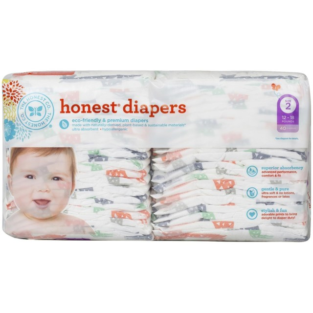 The Honest Company Disposable Diapers - Giraffe - Size 2 - 40 ct by The Honest Company