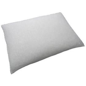 枕 ソフトパイプ枕 日本製 洗える 通気性 高さ調節可能 63x43cm M ホワイト