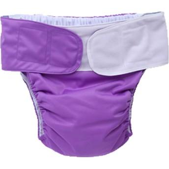 失禁ケア保護下着ダブルオープニングバッグのための思春期の大人の布尿は、障害のある高齢者のための大きなおむつを使用して繰り返し洗浄を調整することができます (purple)