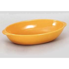 グラタン皿 オーバル オレンジ Mサイズ 業務用 美濃焼 7a757-6-78f