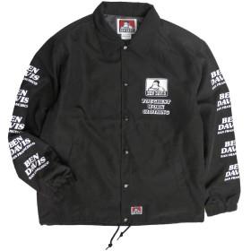 BEN DAVIS コーチジャケット メンズ ジャケット ベンデイビス ナイロンジャケット (ブラック, XLサイズ)