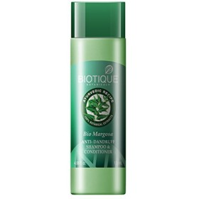 Biotique Margosa Fresh Daily Dandruff Expertise Shampoo and Conditioner for All Hair Types 120ml by Bio Veda Action Research Co(Ship from India)