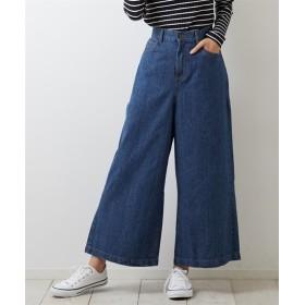 9オンスデニムワイドパンツ (レディースパンツ),pants