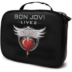 化粧ポーチ メイクボックス Bon Jovi ボン・ジョヴィ レディース ビューティー 収納ポーチ 小物入れ 機能的 大容量 人気 品質保証 シンプル 便利 ファスナー付き 化粧品収納 手触り 長持ち 撥水加工 耐衝撃 日常 旅行 お贈り物