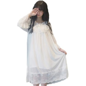 【Grace Bubble】 ロリータ ワンピース クラシック系 真っ白 ロリータ ワンピース クラシック系 真っ白 荷葉の裾 レディース 少女 森ガール